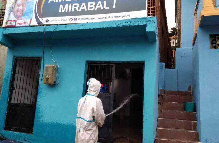 Desinfectaron el Ambulatorio Mirabal I