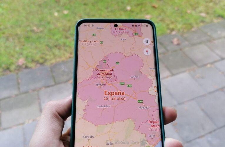 Google Maps mostrará cantidad de casos de Covid en cada zona