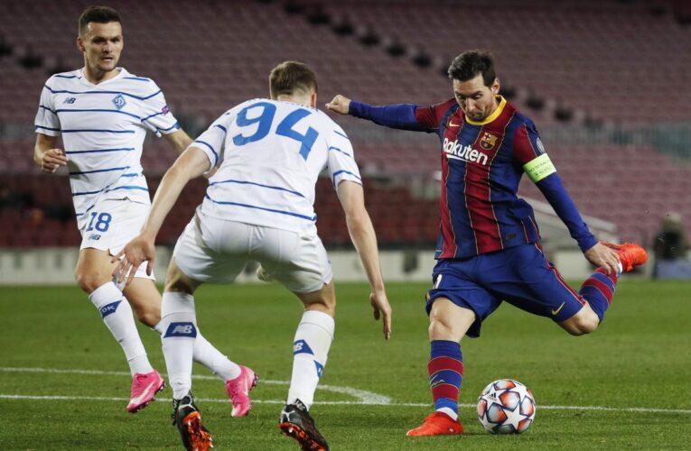 Barcelona vence con sufrimiento al Dinamo