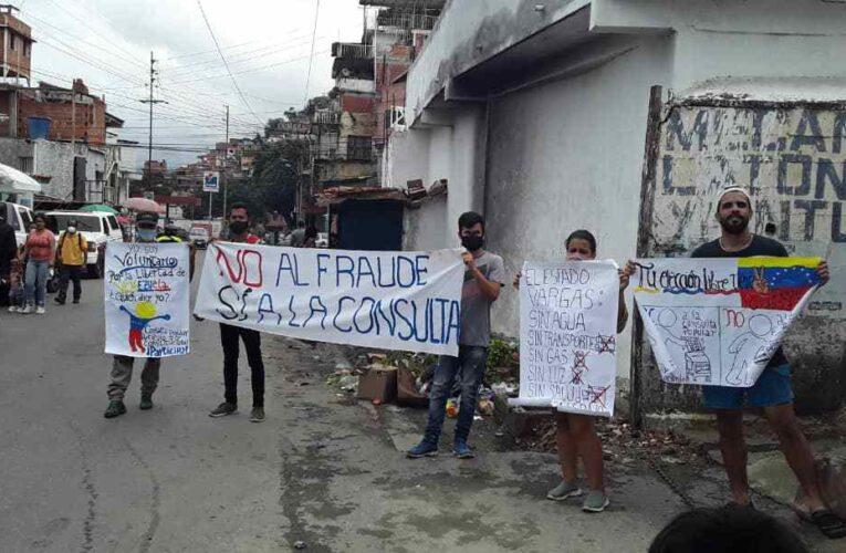 Vargas Resiste realizó pancartazo contra el 6D