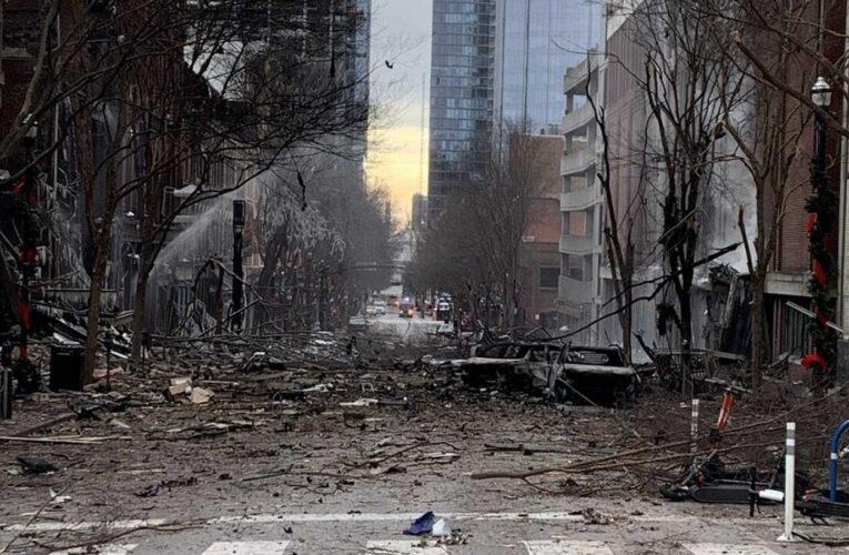 Podrían haber restos humanos en la explosión de Nashville