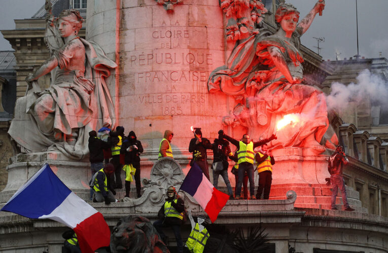 95 detenidos y 67 policías heridos en protestas en Francia