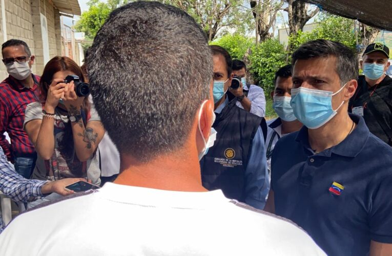 Leopoldo López se reúne en Cúcuta con migrantes venezolanos