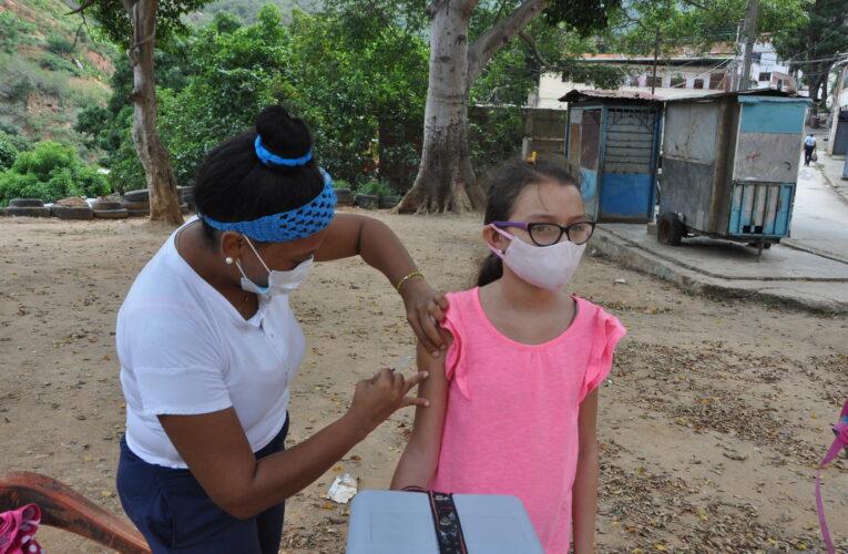 Vacunaron en Los Hornitos
