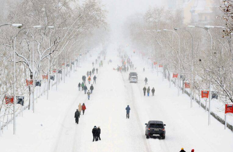 Fotos: Madrid bajo la nieve