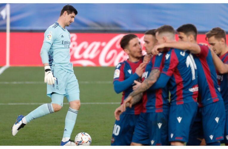 Real Madrid quedó pálido ante el Levante