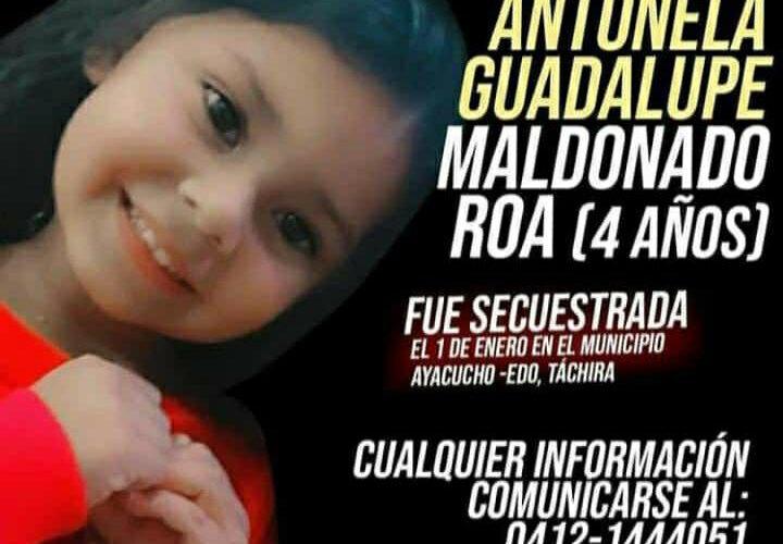 Sigue la búsqueda de niña secuestrada en Táchira
