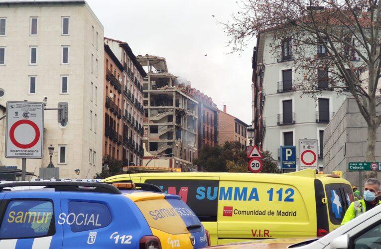 2 muertos deja explosión en edificio en Madrid