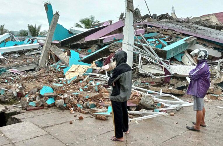 34 muertos deja sismo de 6,2 en Indonesia