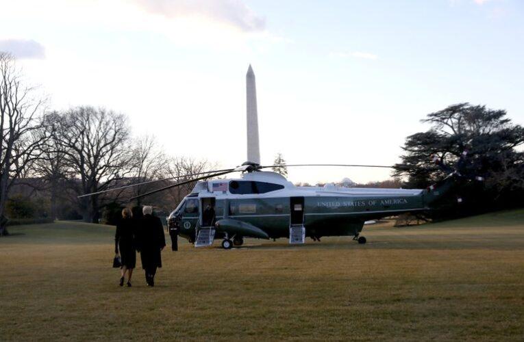 Trump dejó la Casa Blanca: Vamos a volver