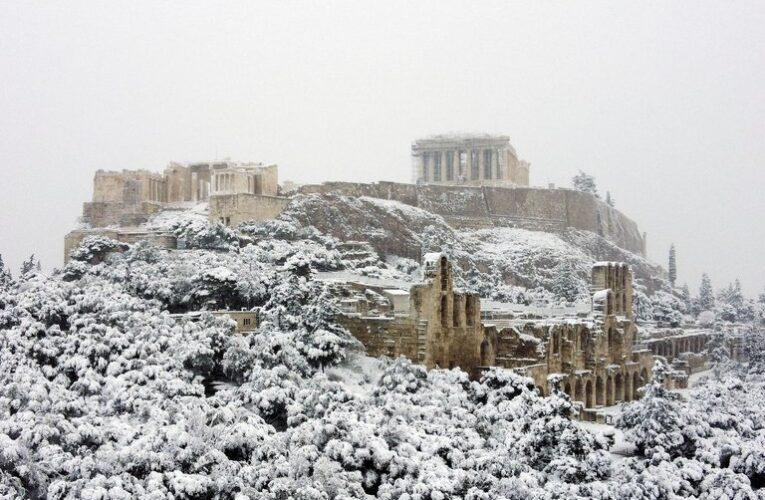 Tormenta de nieve azota Grecia