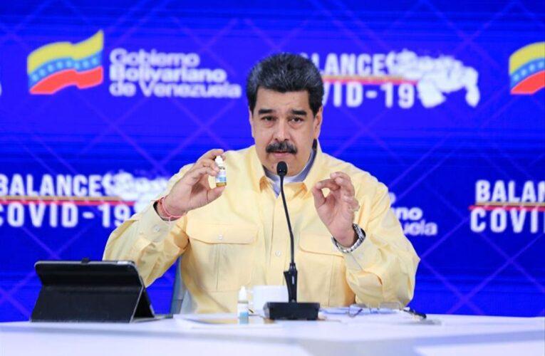 Maduro anuncia llegada de 100.000 vacunas rusas