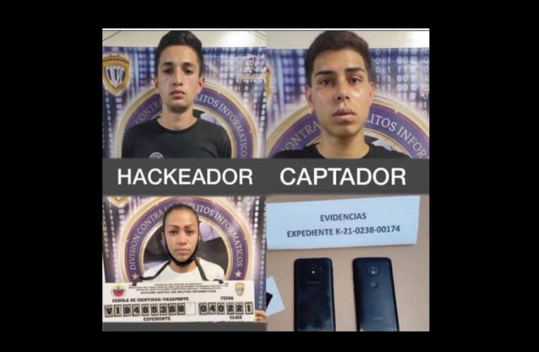 3 detenidos por estafar vía WhatsApp