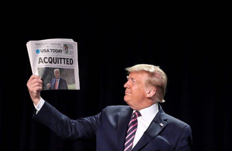 Senado absuelve a Trump