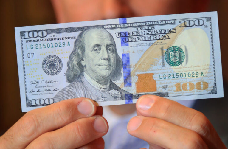 Alertan sobre falsos billetes de $100