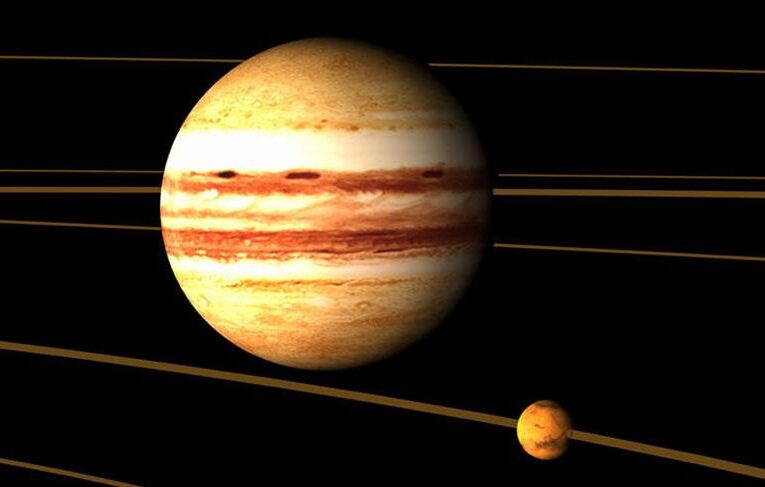 En marzo se producirá la conjución de Júpiter-Mercurio
