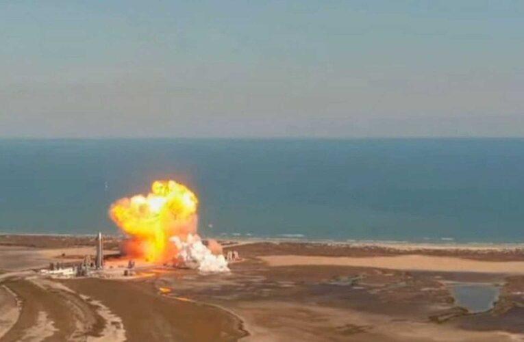 Nave de SpaceX explotó tras aterrizar