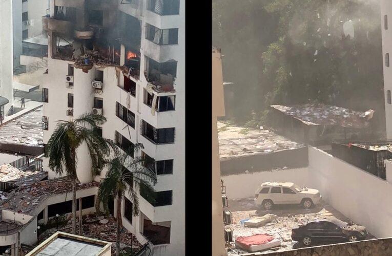 Explosión por fuga de gas en apartamento causó daños en un edificio en Valencia