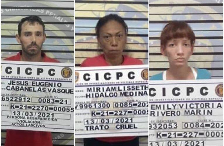 3 detenidos por caso de adolescentes desaparecidas en Catia