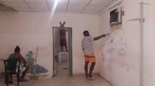 Habitantes de La Sabana reparan su hospital