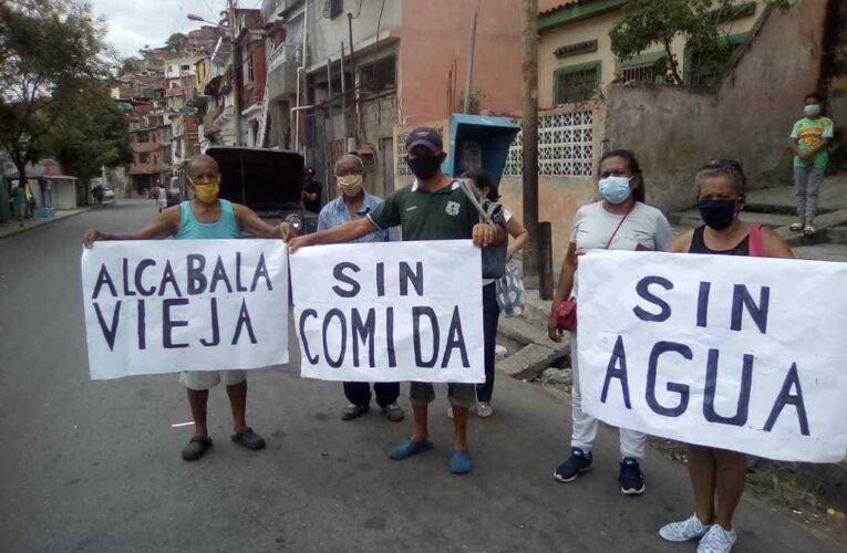 Dos protestas por agua y comida en Carlos Soublette