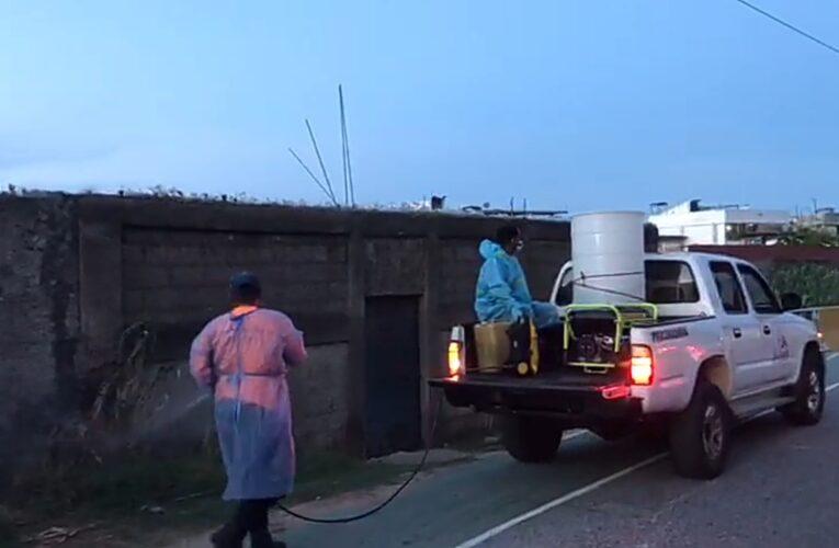 Desinfectan en Naiguatá y Caruao