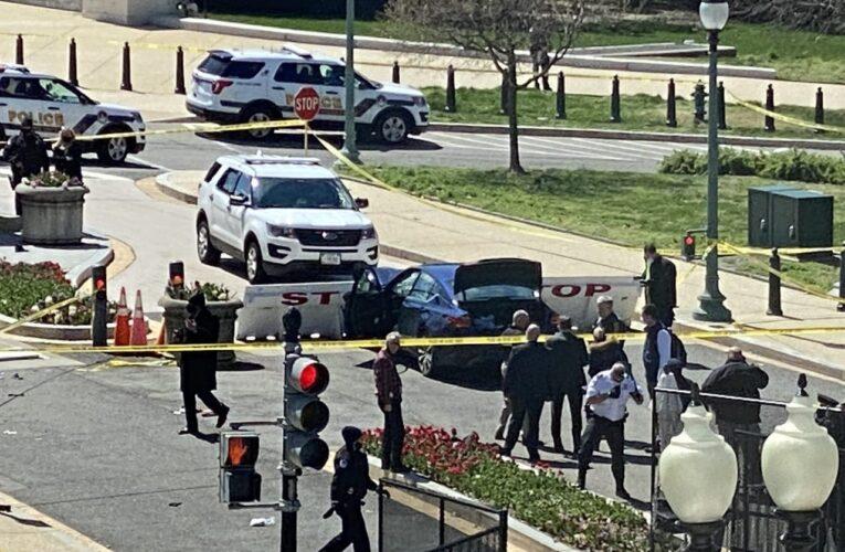 Hombre arrolló a 2 policías y fue abatido en área del Capitolio de EEUU
