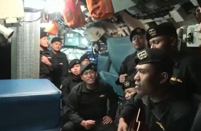 Difunden el último video de los marineros del submarino indonesio hundido