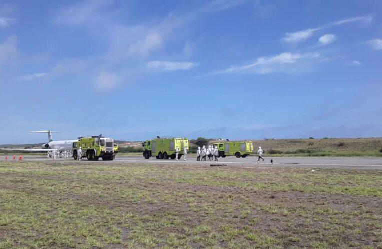 Aeropuerto demostró en simulacro rapidez ante emergencia aérea