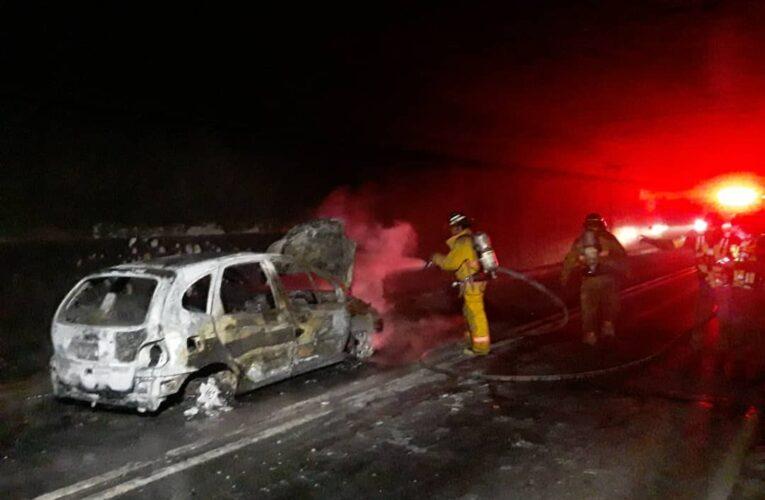 4 heridos dejó incendio de un carro en Boquerón I