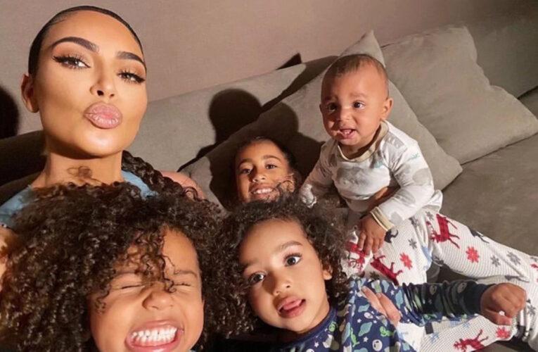 Kim Kardashian y sus hijos dieron positivo