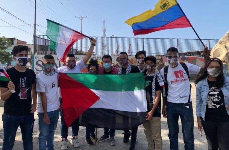 Psuvistas protestan en apoyo a Palestina