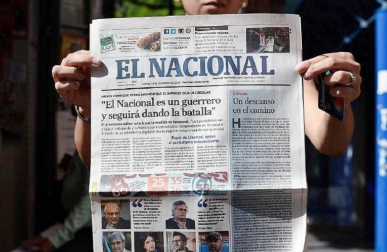 El Nacional anuncia regreso de edición impresa