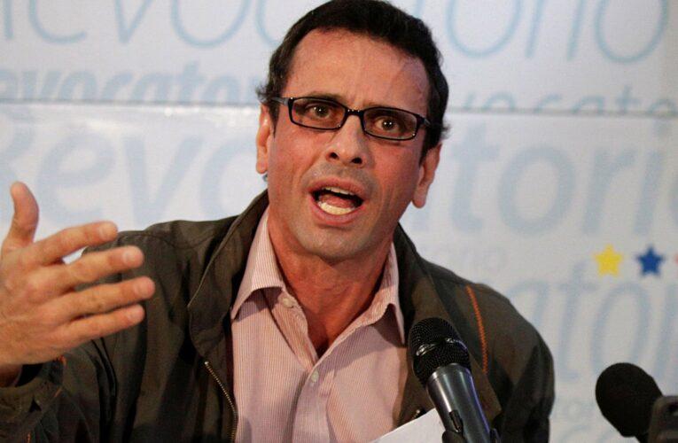 Capriles: No tengo ninguna aspiración para la elección de noviembre