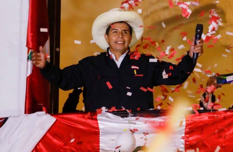 Castillo gana elecciones en Perú