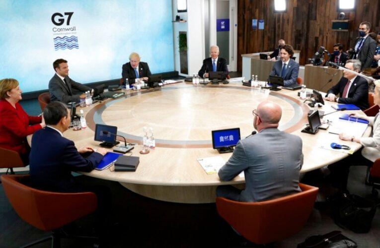 G7 acordó donación de mil millones de vacunas a países pobres