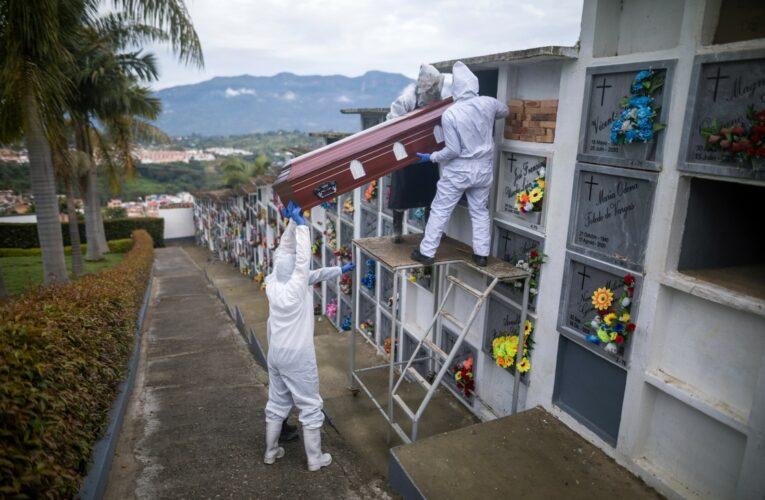 Récord de muertes diarias en Colombia