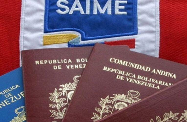 """Saime activará """"jornada especial"""" cedulación y pasaportes"""