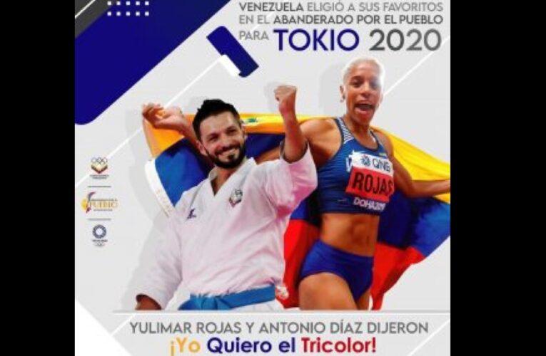 Yulimar y Antonio serán los abanderados a Tokio