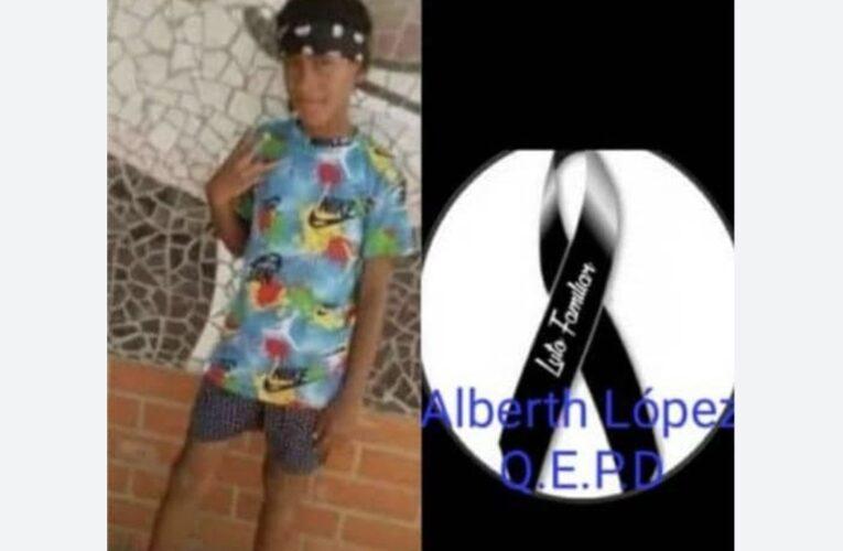 Murió niño herido de bala en la Cota 905