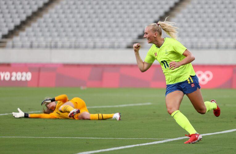 Suecia sorprende a EEUU en inicio del fútbol olímpico