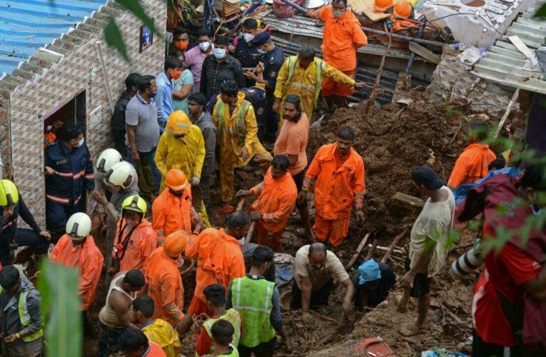 Al menos 34 muertos por derrumbes en India