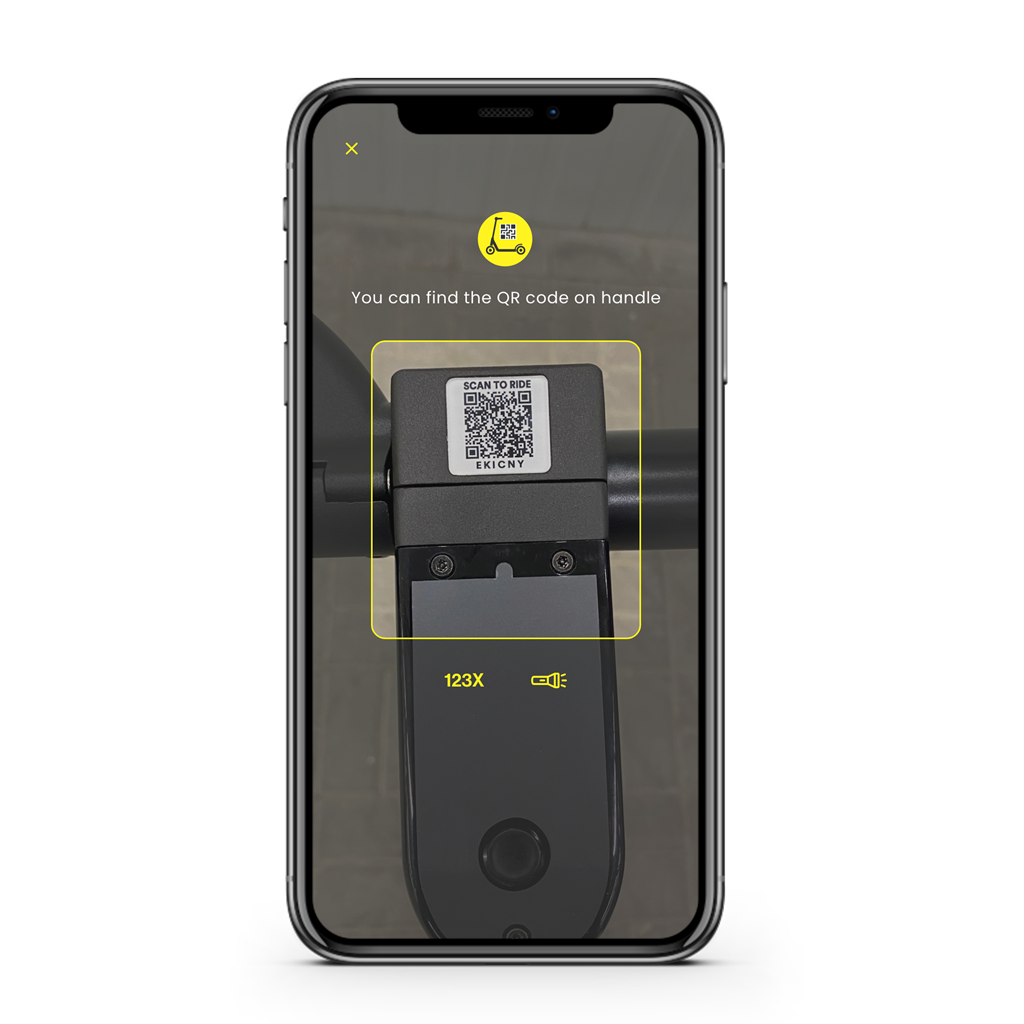 Scan the QR code to start ride.