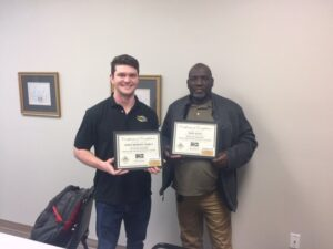 Safety Manager holding Master Trainer Certification of Completion