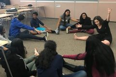 High School Students attended a Clowning workshop to learn how to breakaway from their