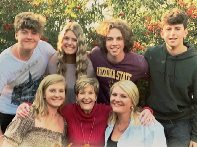 Susan Miller and grandkids