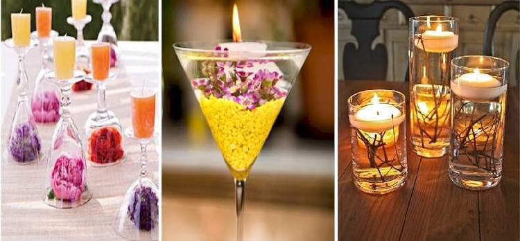 30 Decoration Options With Candles In Cups inverted
