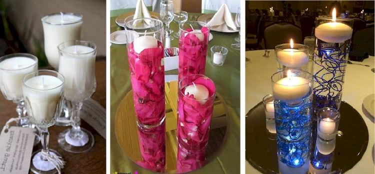 25 Decoration Options With Candles In Cups inverted