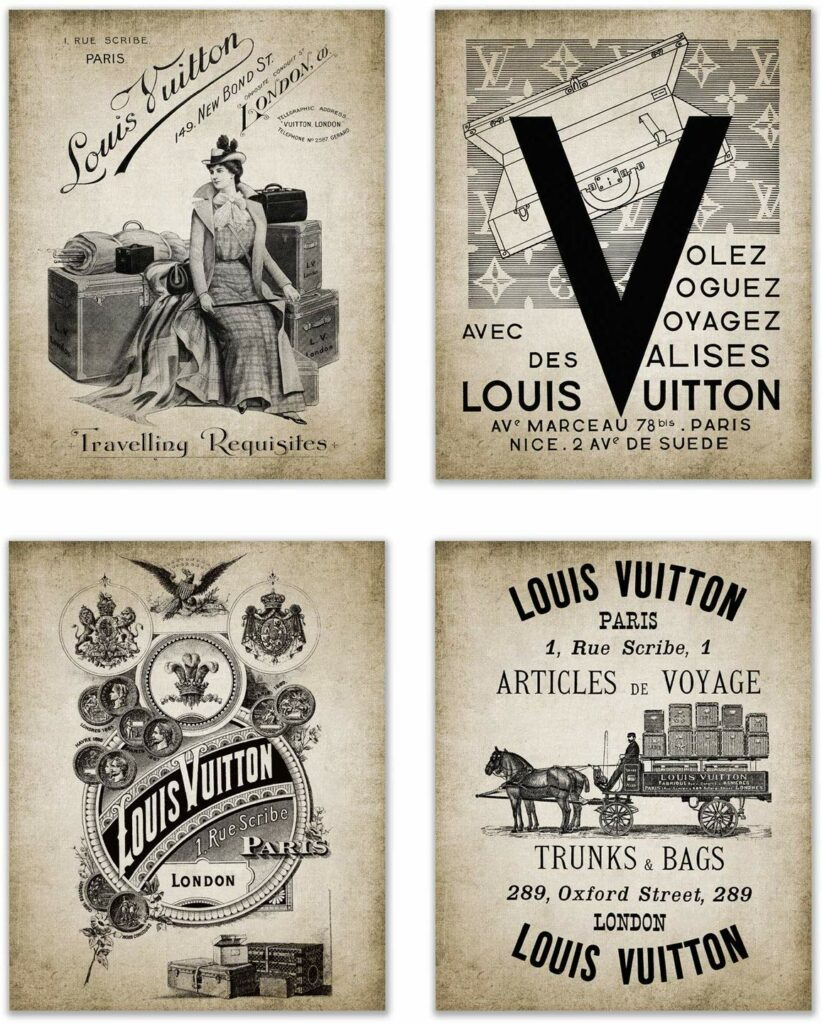 Louis #Vuitton #Posters #Home #Decor Not only are #Bags, Trunks and Purses. There are also items to decorate the house. Some are classic perp and there are also very original. #DIY
