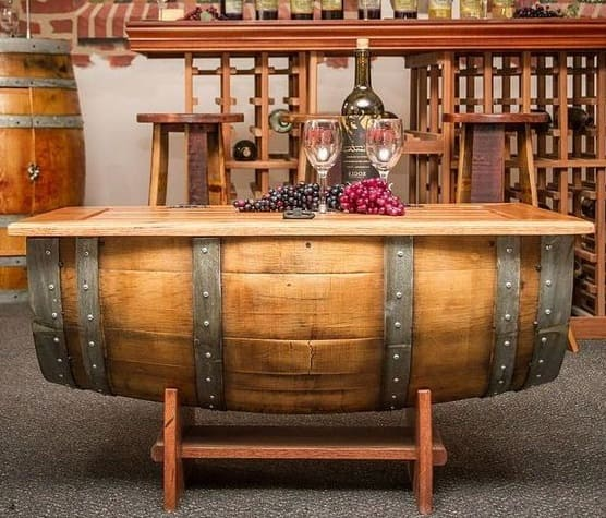 Table -Decor with Barrels